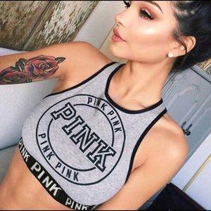 VS PINK high neck sports bra